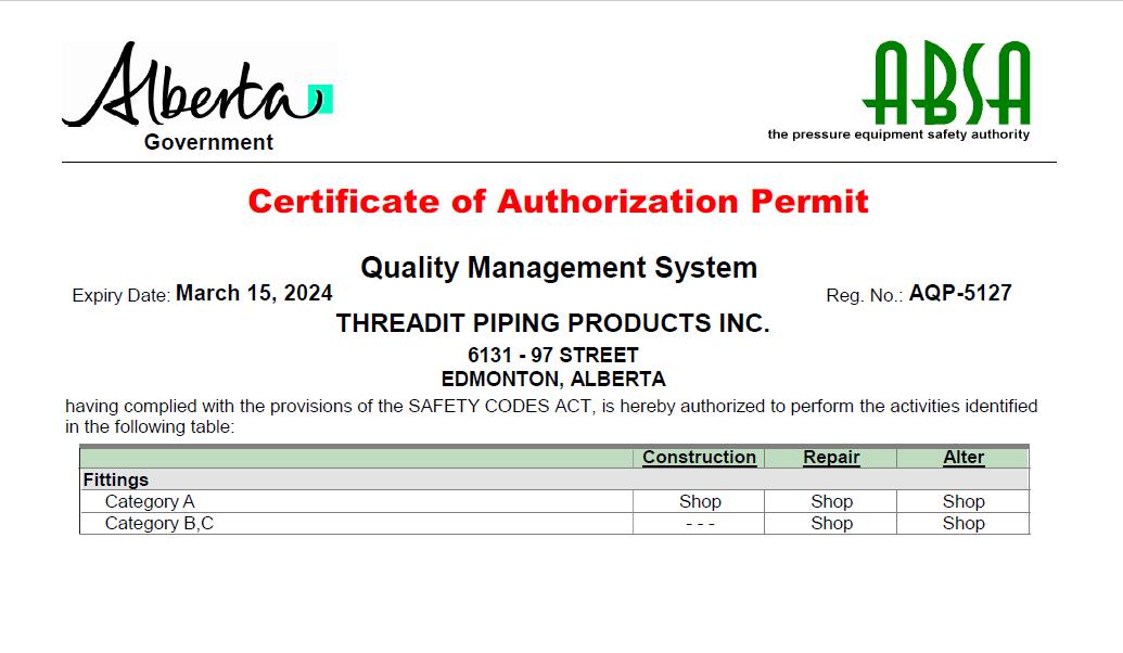 Authorization Permit